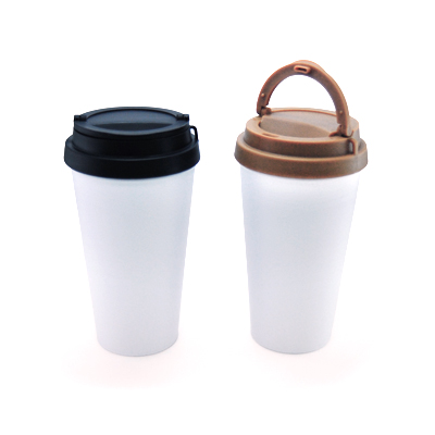 BPA Free Plastic Tumbler with Foldable Handle Lid