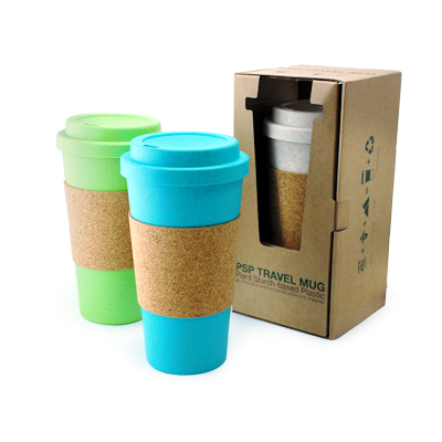 Eco-Friendly Tumbler with Cork Sleeve
