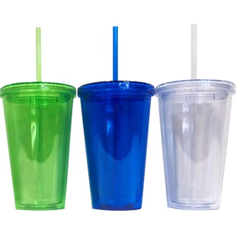 BPA free Tumbler with Straw – 520ml