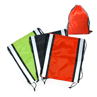 TPG Drawstring Bag With Reflective Panel