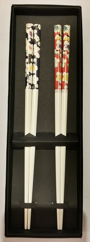 TPG Chopstick 2P set – White Flower