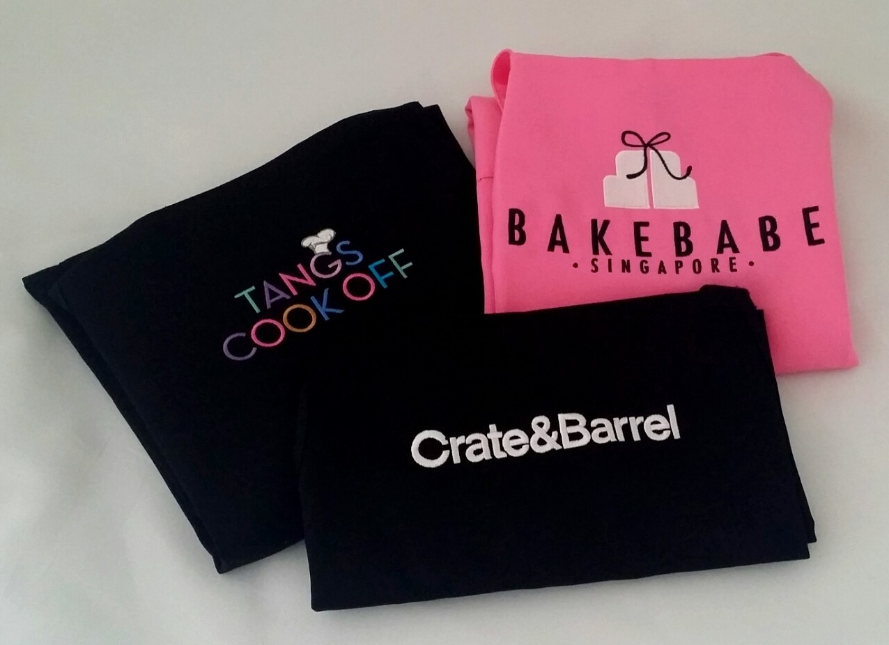 Corporate Gift Singapore Embroidered Apron - Tangs, Crate & Barrel, Bakebabe