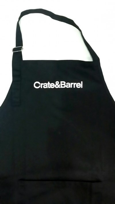 Corpoate Gift Singapore Embroidered Apron - Crate Barrel