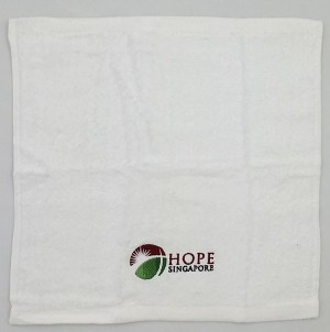 "TPG Face Towel - 12 x 12"" Hope Singapore"