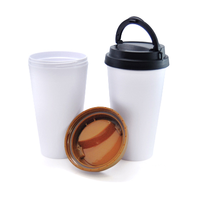 TPG BPA Free Plastic Tumbler with Foldable Handle Lid