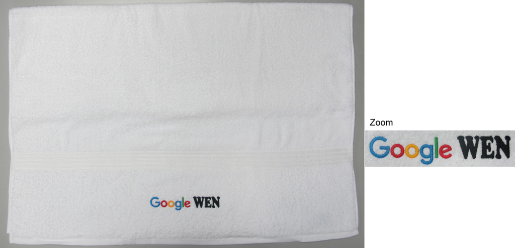 SP5320-A Google WEN (Bath Towel) 150x30mm