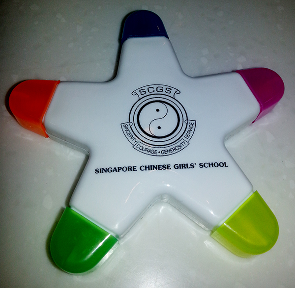 Corporate Gift Singapore Star Highlighter - 5C (SCGS)