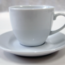 TPG Ceramic Coffee Cup with saucer