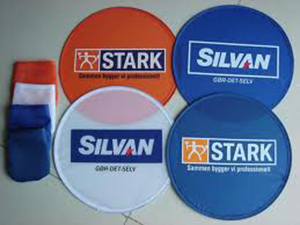 Foldable Colour Frisbee / Fan Singapore