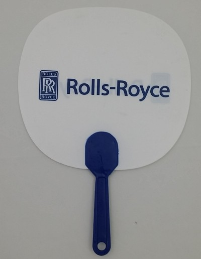Corporate Gift Singapore Fan with Handle - Rolls Royce