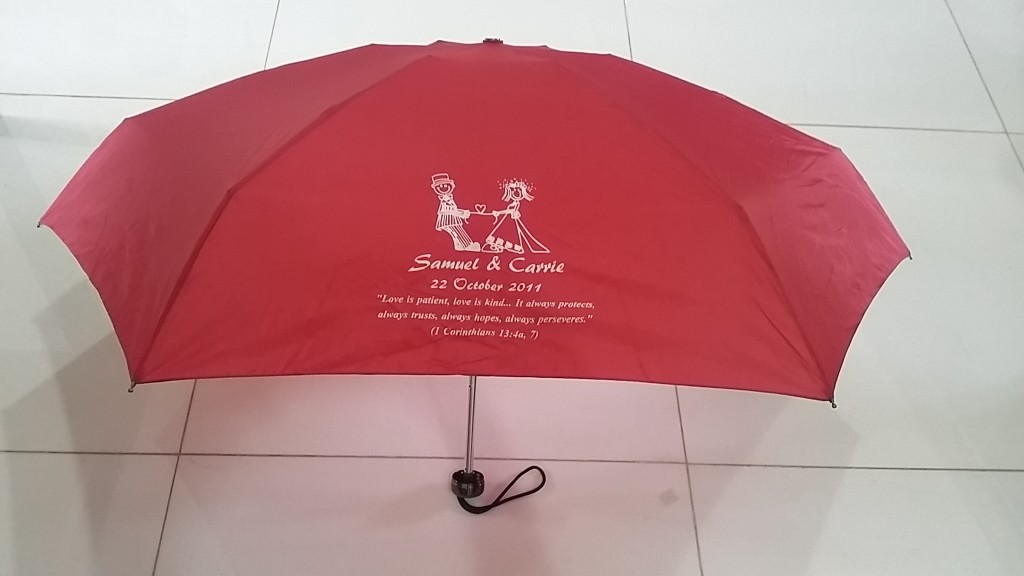 Corporate Gift Singapore TPG 21″ EVA Capsule Umbrella Wedding