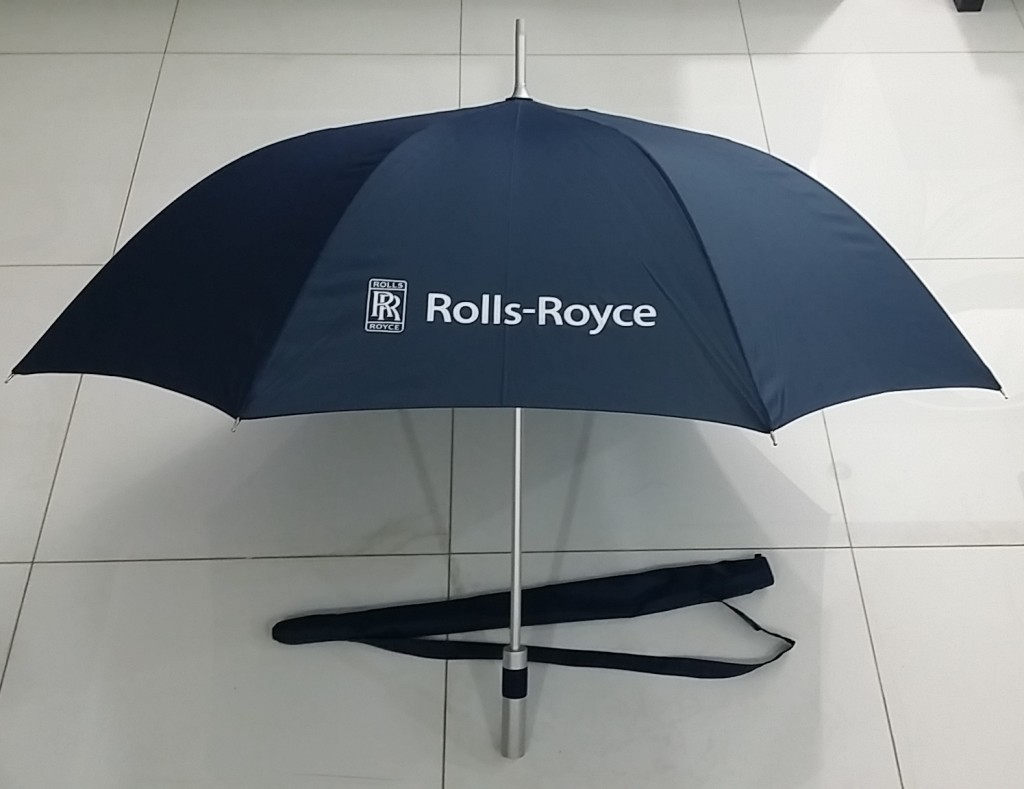 "Corporate Gift Singapore TPG 28"" Colour-UV Golf Umbrella 8P (Rolls Royce)"