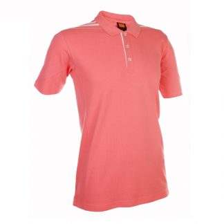 Corporate Gift Singapore TPG Honey Comb Collar T-Shirt Shoulder Stripes (Pink)