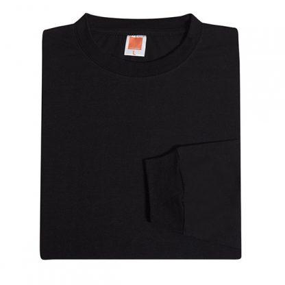 PG Long Sleeve Cotton T-Shirt (Black)