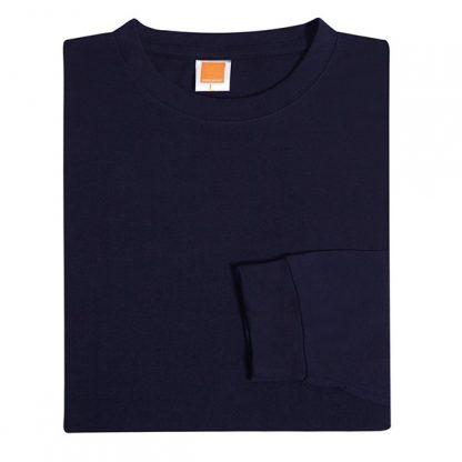 TPG Long Sleeve Cotton T-Shirt (Navy)