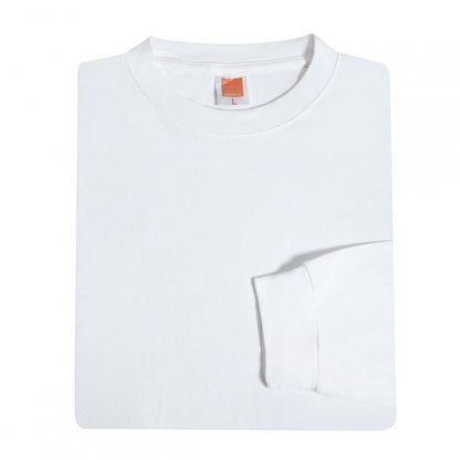 TPG Long Sleeve Cotton T-Shirt (White)