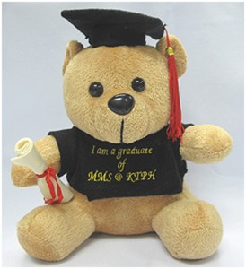 Embroidered Graduation Bear - KTPH