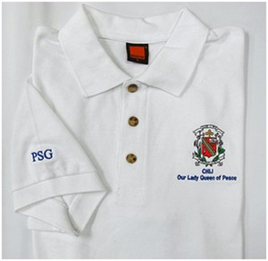 Embroidered Collar T-shirt - CHIJ