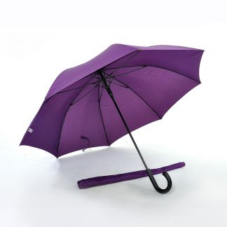 "TPG 27"" Solid Colour Black Handle Umbrella"