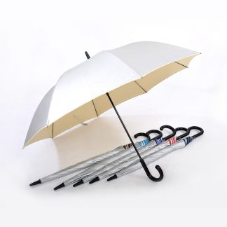 "TPG 27"" UV-Colour Black Handle Umbrella"