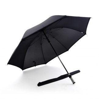 TPG 30 Solid Colour Black Trimming Umbrella (Black)
